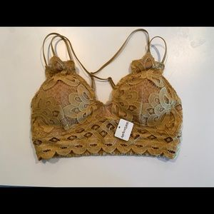 Yellow/Gold Lacey Bralette
